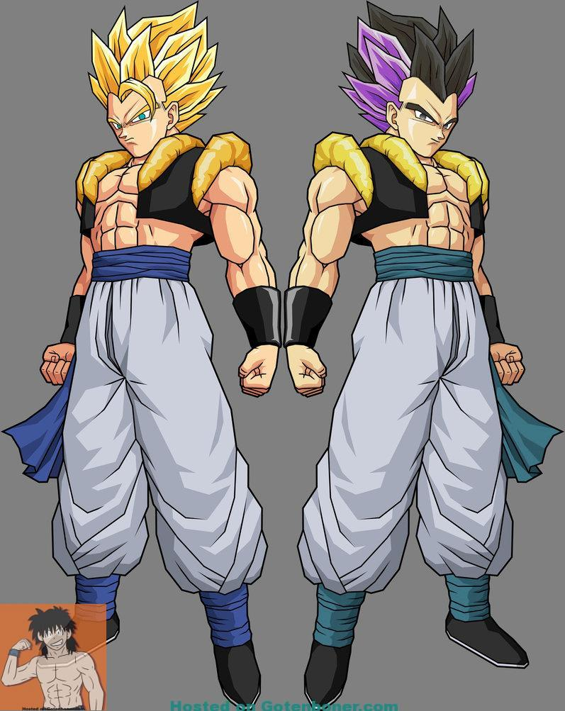 Gotenks_Adult_and_Gogeta_by_alessandelpho