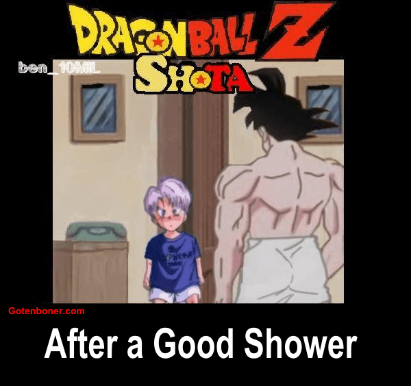 After a Good shower (Goku x Trunks) (Shota) (Color in English)